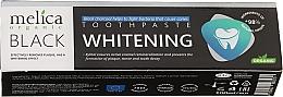 Parfüm, Parfüméria, kozmetikum Fehérítő fogkrém fekete faszénnel - Melica Organic Toothpaste Whitening Black