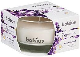 """Parfüm, Parfüméria, kozmetikum Illatosított gyertya pohárban """"Levendula és kamilla"""", 50/80 mm - Bolsius True Moods Candle"""