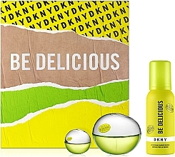 Parfüm, Parfüméria, kozmetikum DKNY Be Delicious - Szett (edp/100ml + sh/mousse/100ml + edp/mini/7ml)