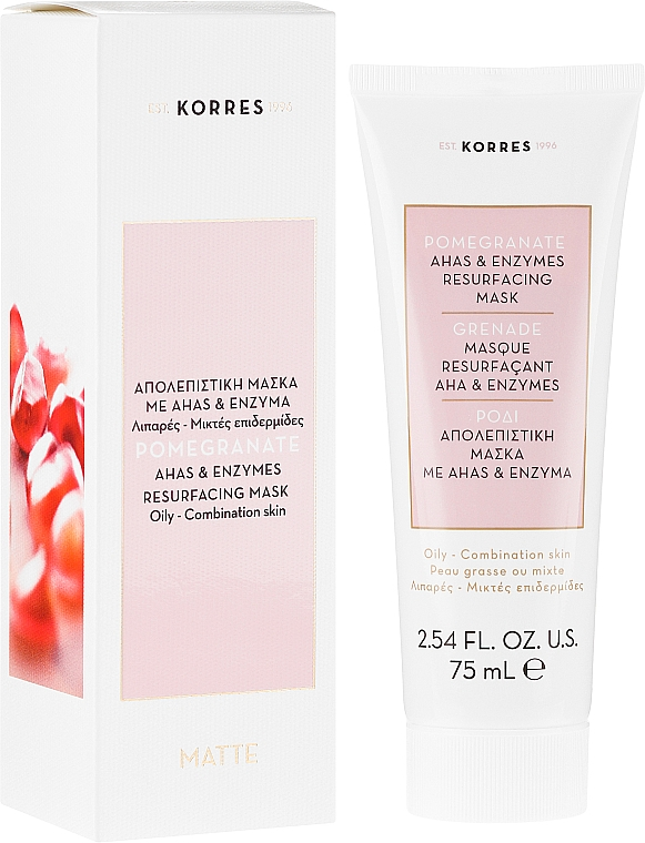 Regeneráló arcmaszk - Korres Pomegranate Ahas & Enzymes Resurfacing Mask