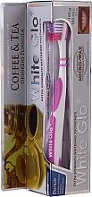 """Parfüm, Parfüméria, kozmetikum Szett """"A tea és a kávé kedvelőinek"""", halvány lila - White Glo Coffee & Tea Drinkers Formula Whitening Toothpaste (toothpaste/100ml + toothbrush)"""