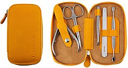 "Parfüm, Parfüméria, kozmetikum Manikür készlet ""Basic Eco"", MS-01E, 5 eszköz, mustár - Staleks Manicure Set"