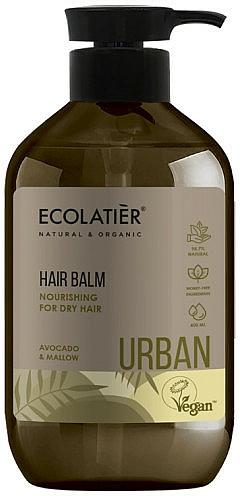 """Tápláló balzsam száraz hajra """"Avokádó és mályva """" - Ecolatier Urban Hair Balm"""