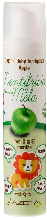 """Gyermek fogkrém """"Alma"""" - Azeta Bio Organic Baby Toothpaste Apple"""